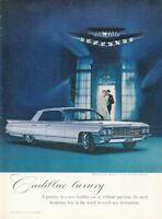 1962 Cadillac PRINT AD Sedan DeVille  4 Door features Harry Winston Jewels