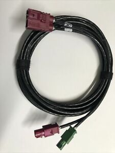 AUDI VW OEM Dual male female fakra x 2 extension car aerial adapter  cable 2.0m