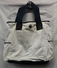 Lululemon Womens Mens Beach Bag Blue Cream Flowered Hobo Bag Good Used 2293