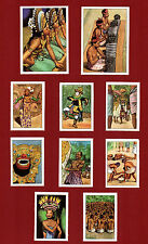 POSTER STAMPS BALI BARONG MASK MONKEES' DANCE INDONESIA DUTCH EAST INDIES NEST