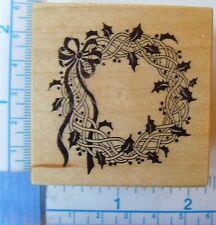 """PSX (PERSONAL Stamp Exchange) """"piccoli"""" Ghirlanda di Natale """"legno montato timbro"""