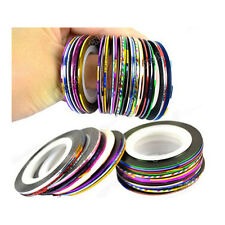 10Pcs Mixed Rolls Striping Tape Line Nail Art Decoration Accessories Stickers