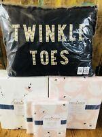 Pottery Barn Kids Ballerina Sheet Set Full Queen Swan Duvet Emily Meritt Shams