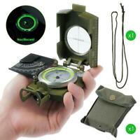 1* Professional Military Pocket Metal Sighting Compass Clinometer Hiking Camping