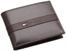 16pc Tommy Hilfiger Ranger Brown Leather Passcase Billfold Men's Wallet