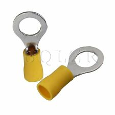 100x Yellow Ring Insulated Crimp Connector Wiring Terminal 12-10AWG