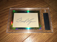 Fred Lynn 2015 Leaf Masterpiece Cut Signature autographed signed card 1/1 JSA
