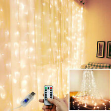 3*3m 300 LED Fairy Hanging String Curtain Lights Xmas Wedding Party Home Decor