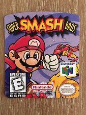 Super Smash Bros N64 Cartridge Replacement Label Sticker