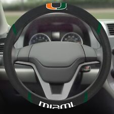 Miami Hurricanes Steering Wheel Cover with Embroidered Logo's