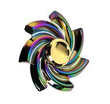 Rainbow Regenbogen Fidget Hand Finger Spinner Windmühle Blüte Metall Metal Neu