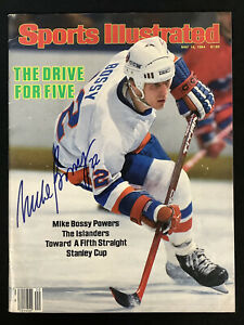 Mike Bossy Signed Sports Illustrated Mag 5/14/84 No Label Islanders Auto HOF JSA