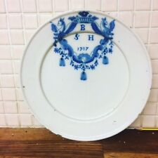 RARE DUTCH DELFT DATED DISH DELFTWARE TINGLAZED TINGLAZE MAIOLICA FAIENCE 17TH C
