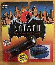 BATMAN THE ANIMATED SERIES DIE CAST METAL BATMOBILE & COLLECTOR STICKER BY ERTL