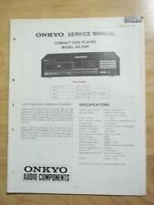 Original Onkyo Service Manual for the DX-3500 CD Player~Repair