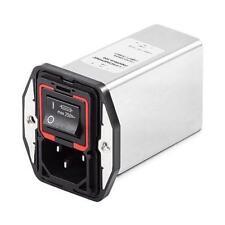 1 x Schaffner maschio IEC/Filtro IEC 60601-1 EN Pannello Montaggio 5 x 20 mm, 4 A, 250 V AC