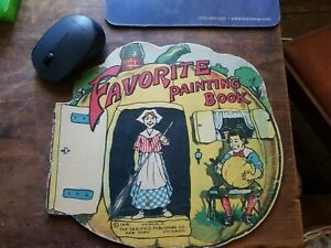 1916 Favorite Painting Book, Akron, Oh., Saalfield Publishing Co., NY - Chicago