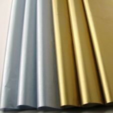 "8~METALLIC SHINY SILVER & GOLD TISSUE PAPER GIFT WRAP~4 SHEETS Each~20"" x 30"""