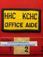 Vtg Jacket Patch HHC KCHC OFFICE AID NEW YORK KINGS COUNTY HOSPITAL CENTER 61B1