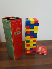 Traditional Toys wooden Tumble Tower in a tin