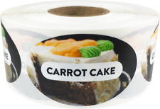 Carrot Cake Grocery Market Food Stickers, 1.25 x 2 Inches, 500 Labels on a Roll