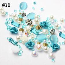 Decoration Crystal Jewelry 3d Flowers Nail Art Rhinestones Alloy Rose Mix Gems 11