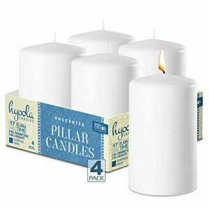 Hyoola, Unscented Dripless Pillar Candles - Multiple Sizes Color and qty