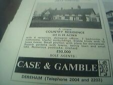 ephemera  1974 advert case & gamble scarning dale house for sale