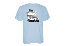 YETI ADVENTURE VEHICLE Large SS CAR BLUE T-Shirt W/FREE Navy Hat & Drink Jacket
