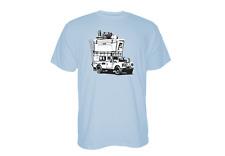 YETI ADVENTURE VEHICLE Large SS CAR BLUE T-Shirt W/FREE Navy Hat & Drink Jacket