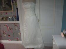 forever yours ivory wedding dress size 10 beaded bodice