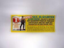 GI JOE FREE SGT SLAUGTER ORDER FORM Vintage Action Figure Promo COMPLETE 1986