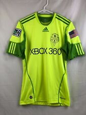 Adidas Seattle Sounders 2009-2010 MLS Soccer Jersey Mens Small Neon Electricity