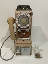 Vintage Western Electric 223 Rotary Pink Pay Phone 3 Coin Parts Restore No Reser