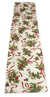 Fete De Noel Collection Christmas Winter Table Runner 16x72 inches By Saro
