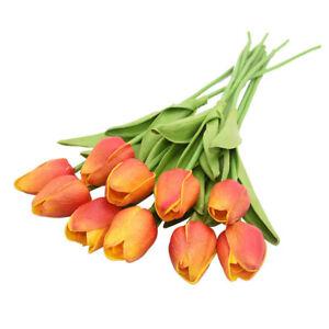 10pcs Tulip Flower Wedding Decoration Artificial Bouquet Fake Flowers Home Decor