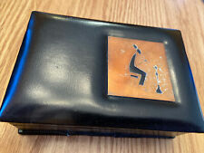 Vintage Jewelry Box Made In Israel Person Smoking A Hookah Freaky Stash Box