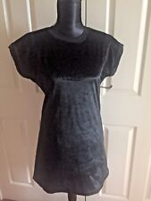 The Ragged Priest/ Pony Fur Tunic Dress/ Black/ New/ Size 12/ TOPSHOP
