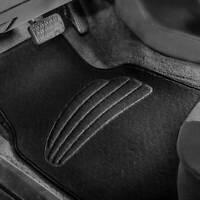 Car Floor Mats For Auto Car SUV 4pcs Carpet Liner All Weather Black