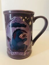 Disney Store Exclusive Purple Eeyore Mug Zodiac Cancer Large Coffee Cup (1E)