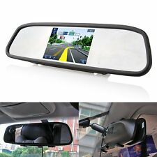 "4.3"" Screen TFT Car LCD Rear View Rearview DVD Mirror Monitor Backup Camera NEW"