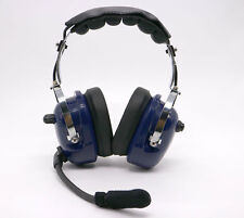 Noise Cancelling Pilot Headset for ICOM F3 F4 F10 F20 F31 radio MiNi DIN BLUE