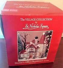 St. Nicholas Square DR.'S OFFICE & RESIDENCE Christmas Village Collection (2002)