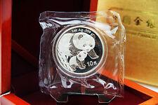 China - 1 Oz plata panda 2004 en la diapositiva original incl. box-Top conservación
