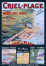 Affiche chemin de fer Nord & Etat - Criel-Plage