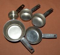 stainless steel 5 piece measuring cups 1, 1/2, 1/3, 1/4, 1/8 cups