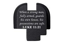 for Springfield Armory XDS Rear Slide Plate 9mm .40 .45 BLK Bible Luke 11:21