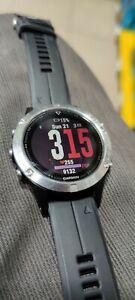 Garmin Fenix 5 Silver with Black Band GPS Sports Watch