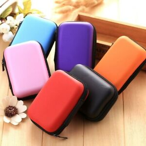 Hard Case 6 Colors Data Cable Earphone Charger Game Card Storage Case Waterproof