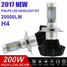 Lumiled 200W H4 9003 6500K WHITE LED HEADLIGHT KIT HI/LO BEAM BULBS BALLAST PAIR